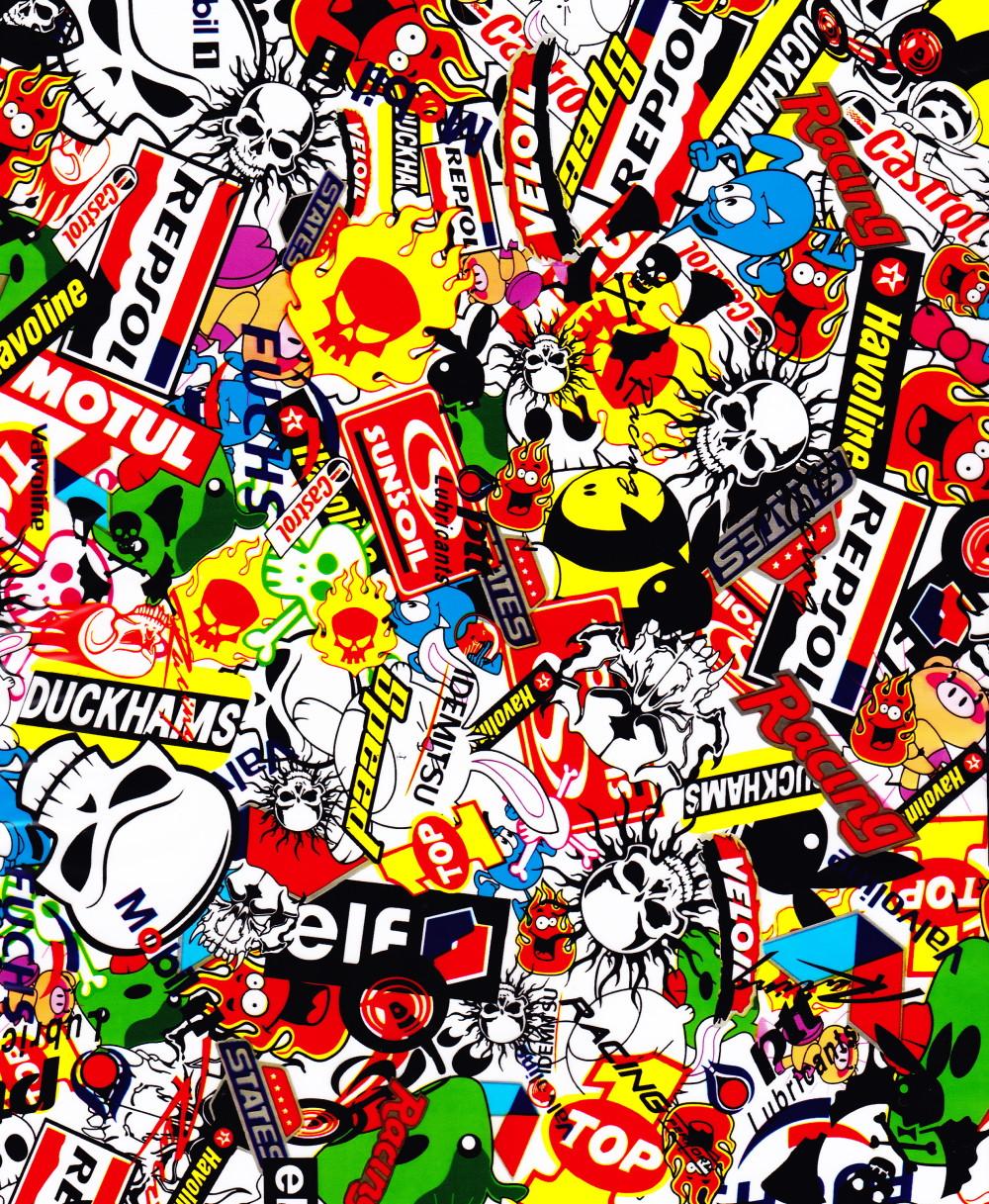Bom Sticker