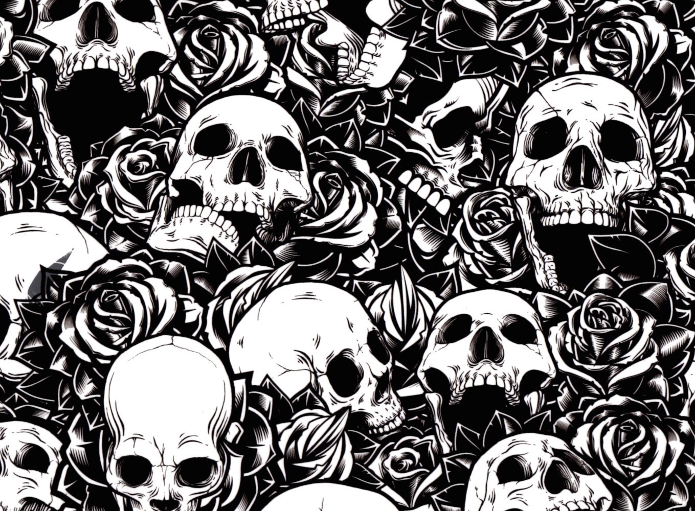 Skull Roses 100cm Pa Hydrographics Hydrographic Tanks