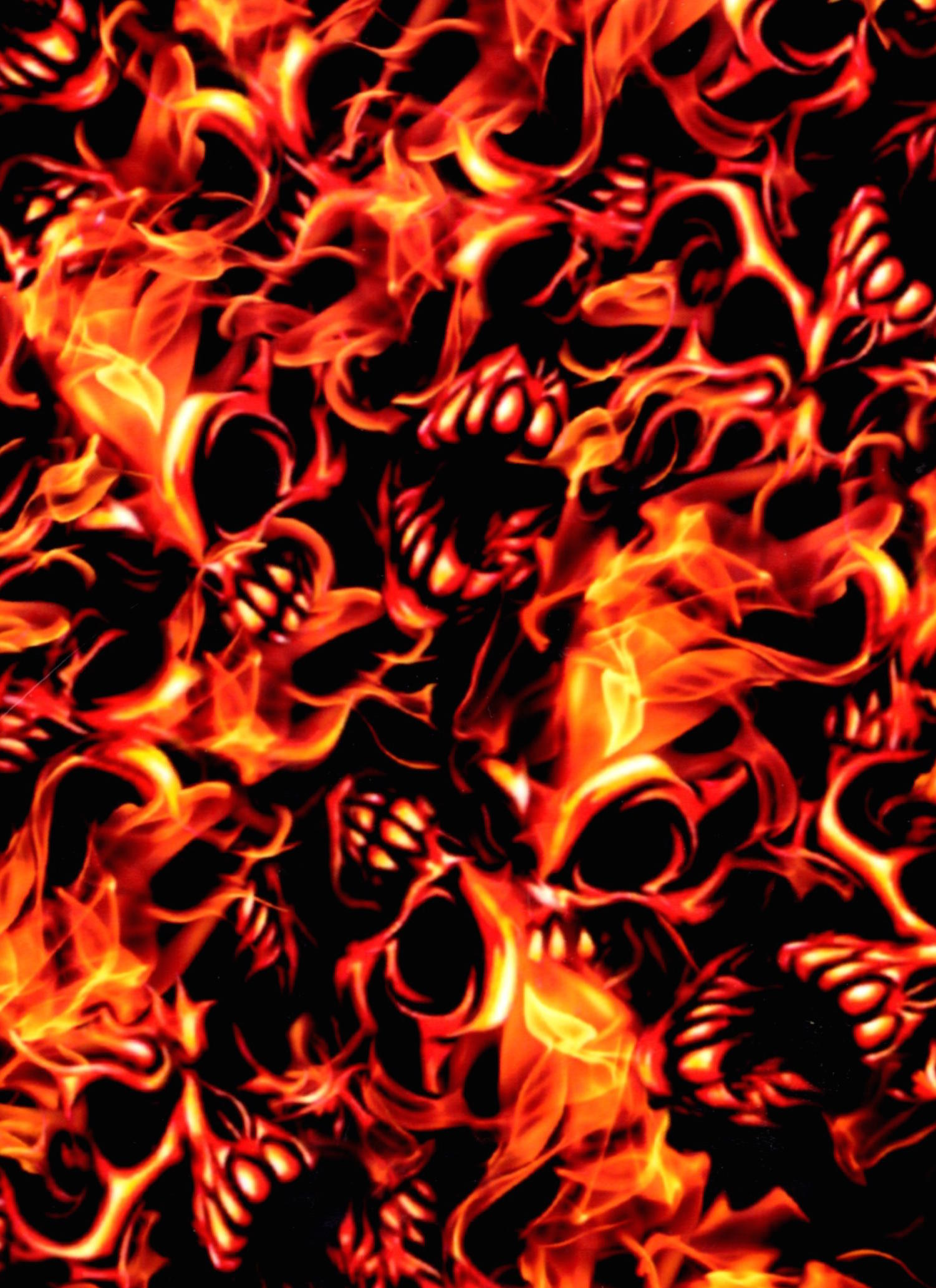 screaming red flames 100cm pa hydrographics. Black Bedroom Furniture Sets. Home Design Ideas